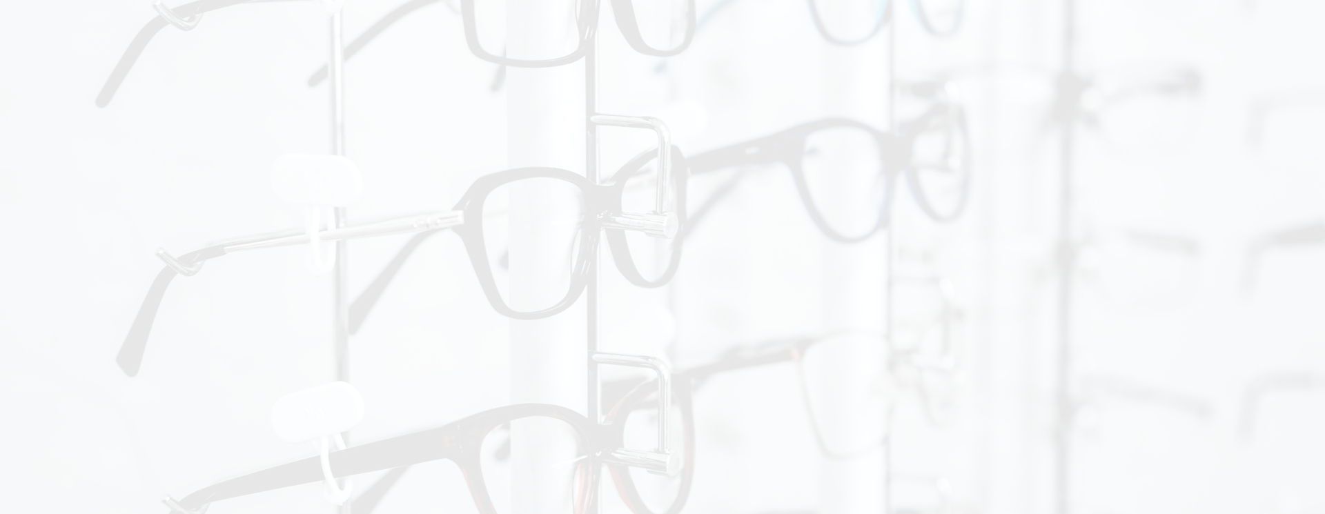 Glasses with white overlay